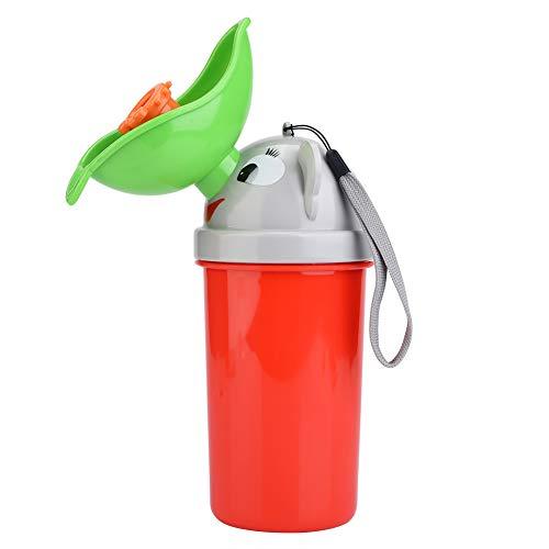 Portátil Reutilizable Orinal para el bebé Orinal a prueba de fugas Anti olor Olor Emergencia Entrenamiento para el baño Orinal para niños pequeños Niños Niños Niñas Acampar Viajar(Rojo)