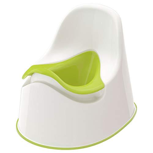 IKEA LOCKIG - Orinal infantil (3 unidades), color blanco y verde