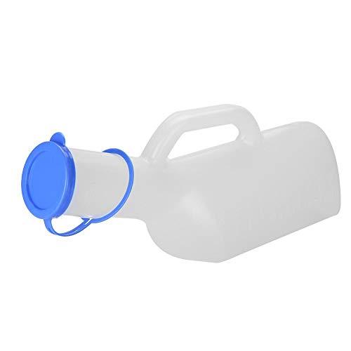 Orinal, botella de orina de 1000 ml hecha de material plástico duradero de alta calidad con tapa, tamaño portátil adecuado para adultos niños