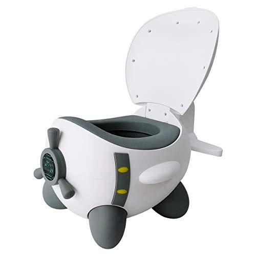 Glenmore Bebe Orinal para Infantil Ninos Water WC Bater Orinales Vater Inodoro Portatil Vasenilla, Gris blanco