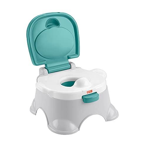 Fisher-Price Orinal 3 en 1 Aprende a ir al baño, convertible en escalón, juguete para bebés y niños (Mattel GYP61)