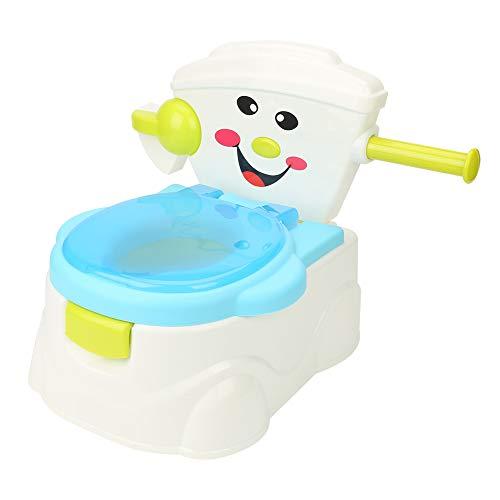 Orinal en Forma de Water Mini WC, Water Niños WC con Respaldo Seguro + Mango Antideslizante, 36 × 43 × 34 cm