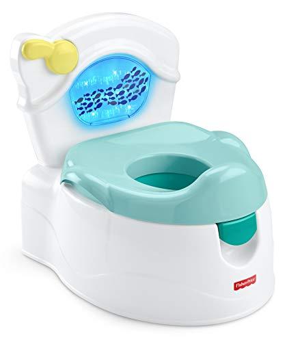 Fisher-Price Orinal océano aprende a ir al baño, para bebés y niños, con sonidos y luces (Mattel GWD37)
