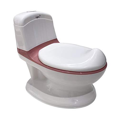 LUPPEE Orinal de pato, orinal interactivo, entrenador de inodoro con sonidos de enjuague, recipiente extraíble, inodoro infantil (rosa)