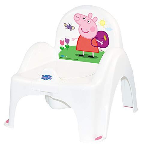 Tega Baby - Orinal infantil, 6 modelos y diferentes sets de orinal + asiento de inodoro + taburete, antideslizante y especialmente seguro Silla Peppa - color rosa Talla:Solo