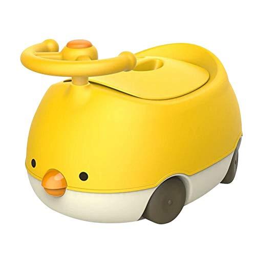 Hbao Orinal, Inodoro para niños pequeños, Orinal, Forma de Volante de automóvil, Equipado con un Mango y una Placa contra Salpicaduras Resistentes y cómodos