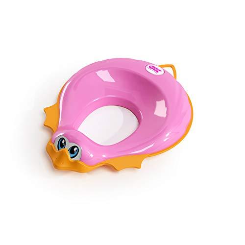 Okbaby - Reductor para inodoro con borde antideslizante - Para niños - Modelo Ducka fucsia