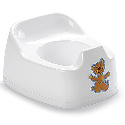 Silla de entrenamiento para niños con espacio para fácil transporte, fácil de vaciar y limpiar (1 cámara de orinal blanca)
