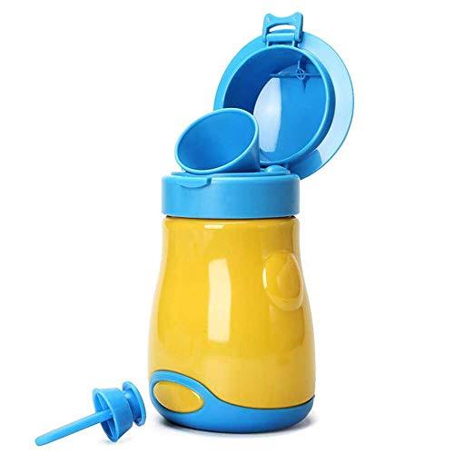 [Versión de actualización 2020] BYETOO Orinal portátil para bebé y niño, reutilizable, taza de entrenamiento de orinal, inodoro de emergencia, para acampar, coche, viajes, para niños - amarillo