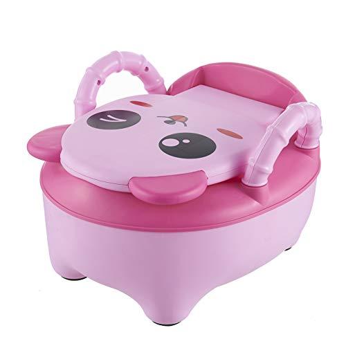 QIANGUANG® Bebé Niños Asiento del baño Niñito Entrenador Orinal Silla de entrenamiento (Nueva rosa)