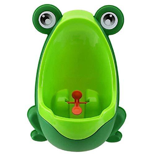 QIANGUANG® Orinales Bebé y niños Entrenamiento portátil Niños Frog Urinario Entrenamiento para baño del Ranita Orinal (Verde)