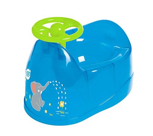 dBb Remond Pot bebé Décor elefante con volante azul translúcido