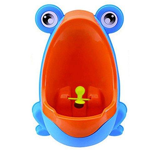 TOOGOO(R) Urinario de Bebe Orinal de Rana Lindo Urinario de formacion para Chicos (Azul)