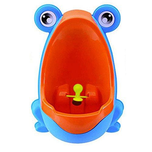 SODIAL(R) Urinario de Bebe Orinal de Rana Lindo Urinario de formacion para Chicos (Azul)