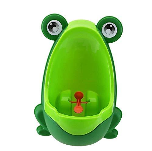Lumanuby Orinal para niños con forma de rana para niños y niños, montado en la pared, orinario para niños