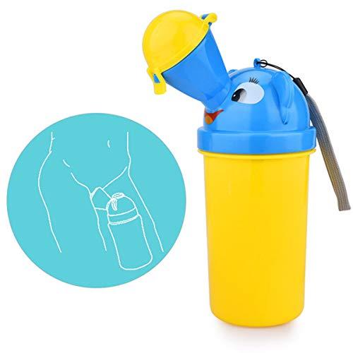 Portátil bebé niño orinal reutilizable Pee entrenamiento taza de emergencia inodoro para camping coche viaje para niños y niñas (Amarillo)