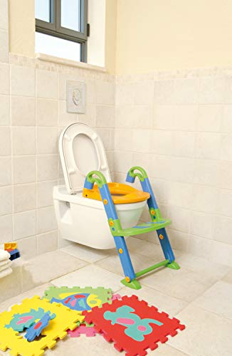 Rotho Baby Design KidsKit 3 en 1, Aprendizaje de orinal, A partir de 18-36 meses, 41.5 x 25 x 67 cm plegado, Multicolor, 600060099