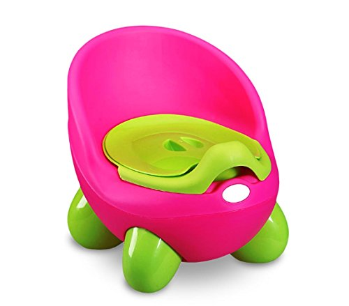 363324 Orinal para niños POTTY BABY TOILET práctico seguro y cómodo con tapa - Fucsia