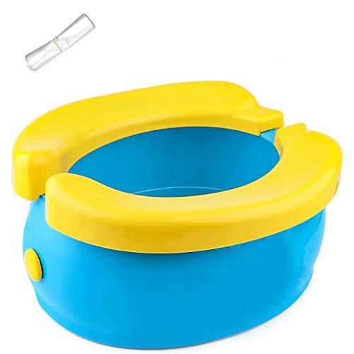 Harxin Baby Travel Potty, Asiento de Inodoro Portátil para Bebés, Niños Pequeños, Viajes al Exterior o Entrenamiento para ir al Baño, con Bolsa de Almacenamiento, 20 Bolsas de Plástico (Bebé Orinales)