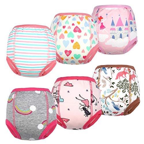 Flyish - Ropa de interior para niños que están aprendiendo a usar el orinal, absorbente potente, unisex, para niños de 12 meses a 4 años