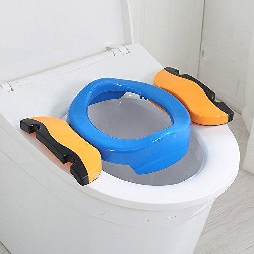 Orinal Portatil, Orinales para Niños, Orinal Portatil Plegable con 10 Bolsas de Plástico, Compacto y Portátil para Viajes (azul)