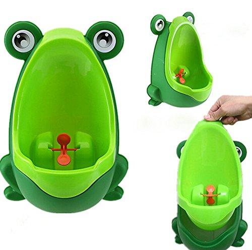 Hosaire Orinal,Orinal Infantil de Rana para niños/bebé de Color Verde/Naranja/Marrón